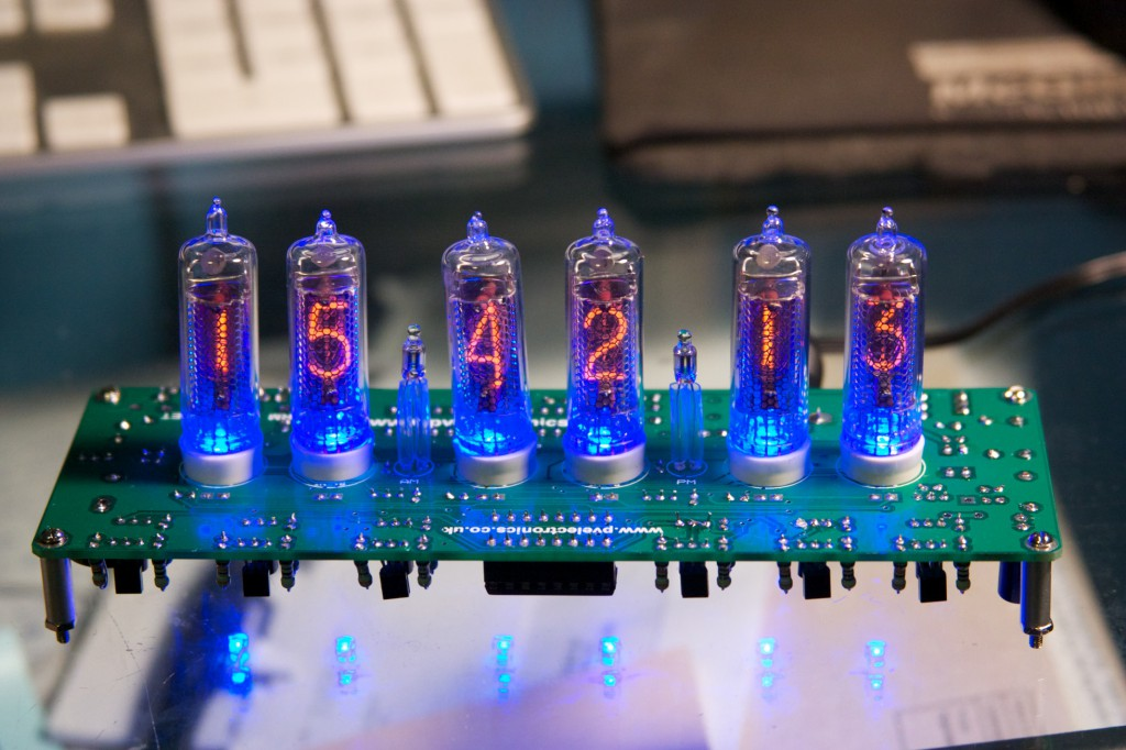 Completed Nixie Tube Clock