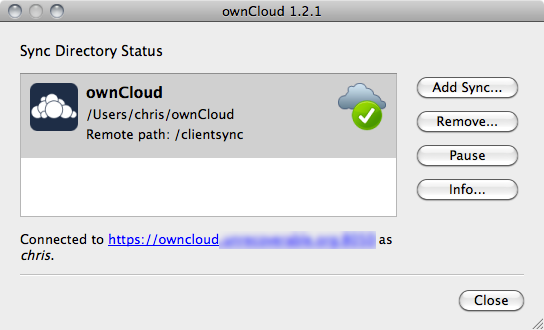 ownCloud-Status